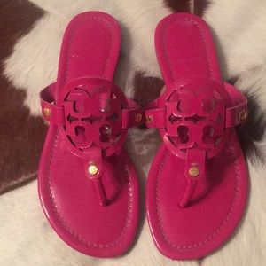 Tory Burch Patent Leather Miller Sandal Size 6 1/2